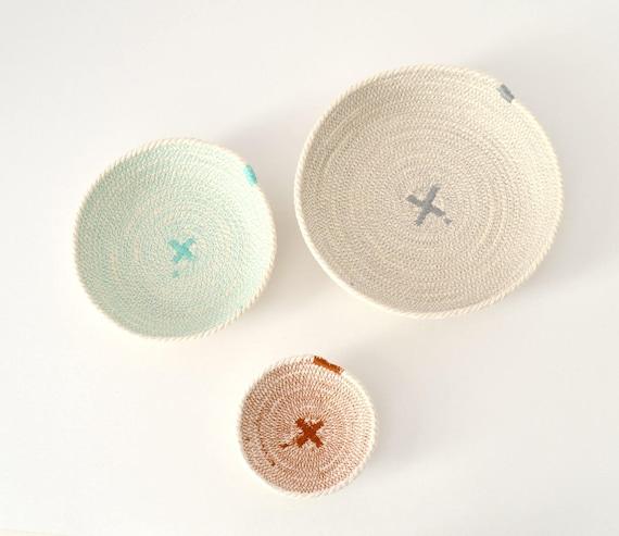 Nesting rope bowls