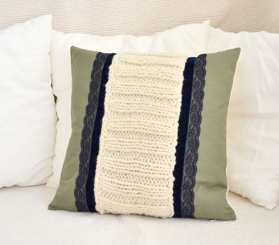 Winter decor pillow Country house pillow, Farmhouse pillow Country decor pillow, Cosy home pillow linen and wool Rustic luxury Cushion cover
