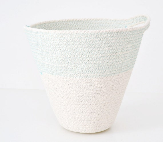 Hanging basket, Rope basket, Planter basket, New home gift, Bathroom storage, Beach house decor, Cotton baskets, Mediterranean style, Cotton