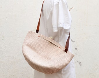 Beach basket bag - Rope summer bag perfect to go to the beach or pool - Beach bag for women or men