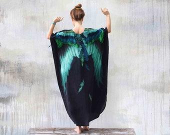 Kimono Dress, Wings Kaftan Dress, Plus Size Clothing, Halloween, Dress For Women, Bohemian Dress, Wings Dress, Caftan Dress, Abaya Dress