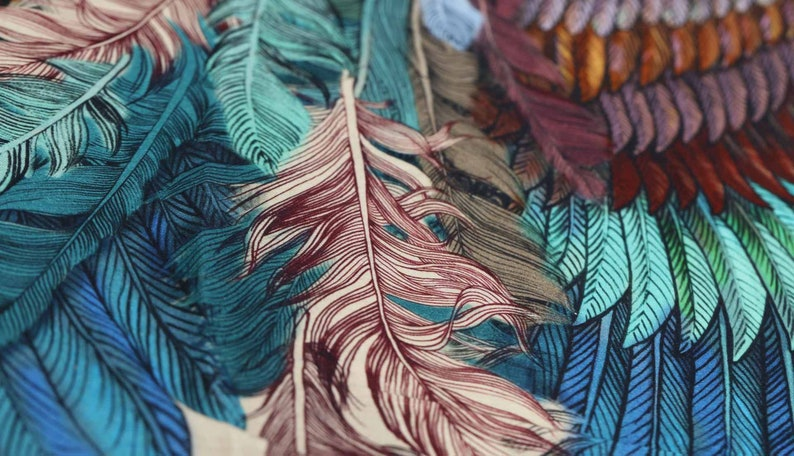 Wings Scarf Festival Shawl Feather Print Shawl Women Gift image 4