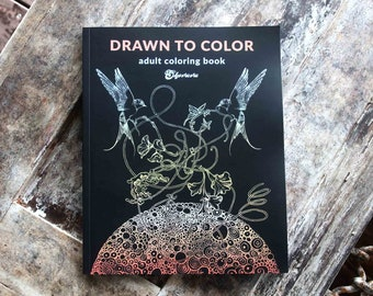 Adult Coloring Book, Coloring Pages, Mandala Gift, Stress Relief Book, Mandala Coloring, Art Book, Hand Drawn Ink Book, Calm Art Book