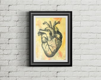 Heart of the Matter - Giclee Fine Art Print Mixed Media Painting