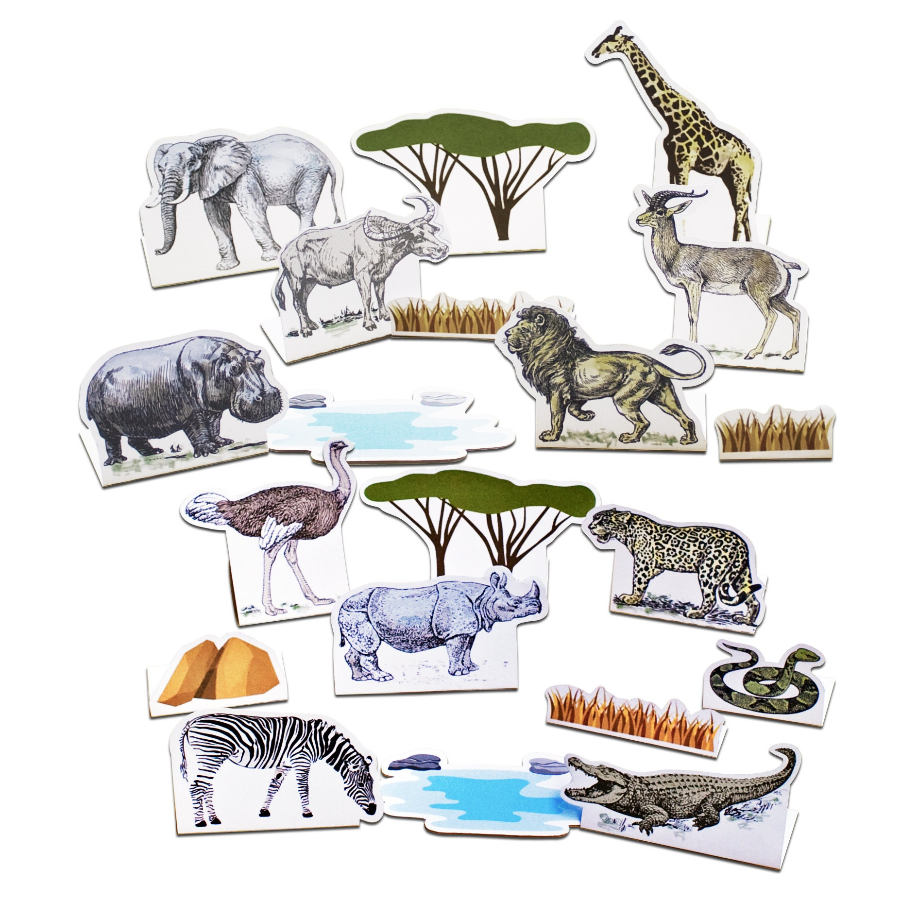 Safari Animals Printable Activity Kit Fun Crafts For Kids Etsy