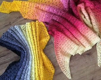 Two Sisters Shawl and Wrap crochet pattern, using Scheepjes Whirl