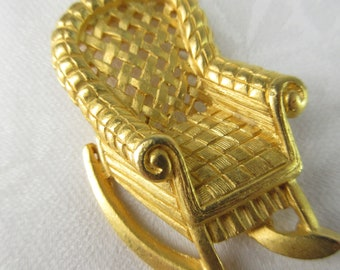 Lapel or Collar Vintage 1990s Crazy Cute Tiny Chair Pin