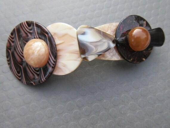 Mod oversized vintage barrette modern hair clip At