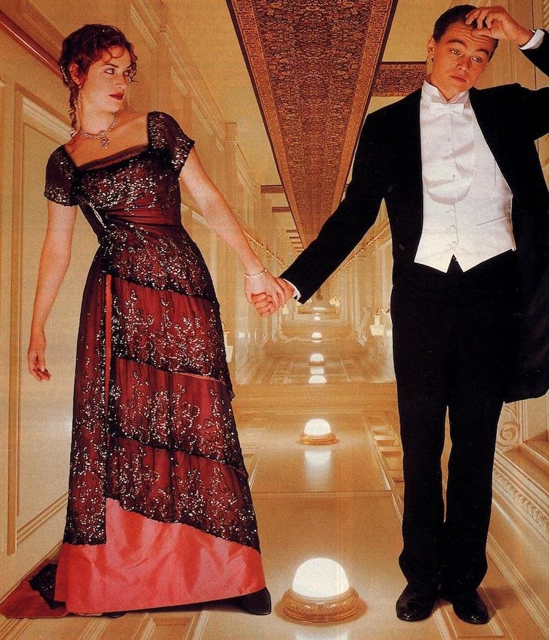 Titanic Dinner Dress Gown Formal McCalls SEWING Pattern 9688 Sizes 4-6-8  Rose OU... Titanic Dinner Dress Gown Formal McCalls SEWING Pattern 9688  Sizes 4-6-8 ... e0713cffddd