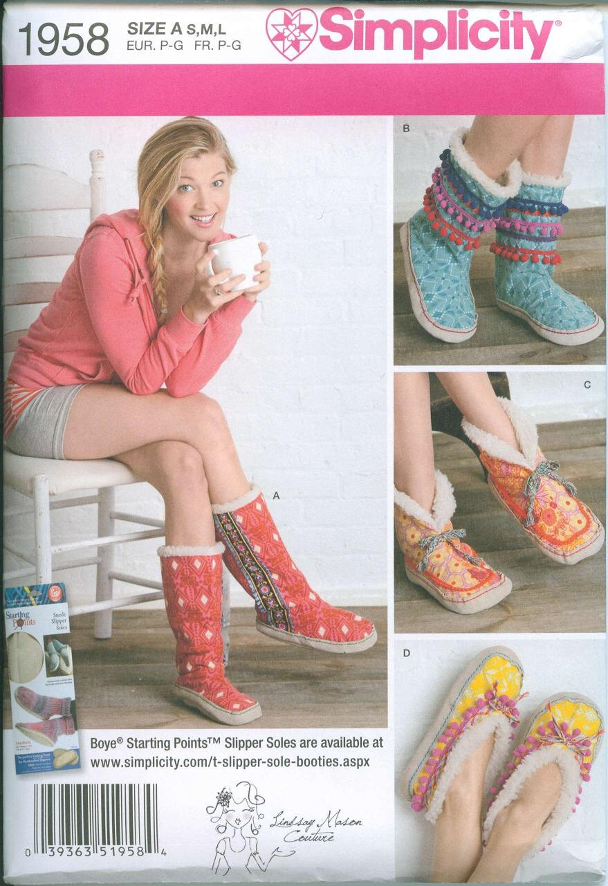 New Simplicity 1958 Sewing Pattern Shoes Booties House Etsy