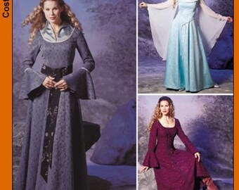 Renaissance Maiden Sewing Pattern Simplicity 9891 Sizes 14-16-18-20 Susan Narnia Archery