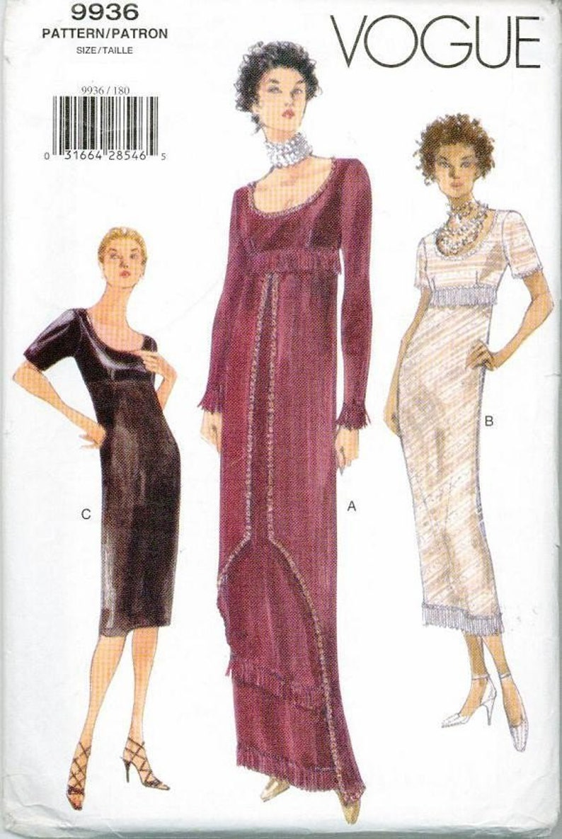 Titanic Rose Swim Dress Jump Sewing Pattern Vogue 9936 Out of  c2a17b044