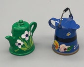 Dolls House Kettle and Coffee Pot Tole Ware