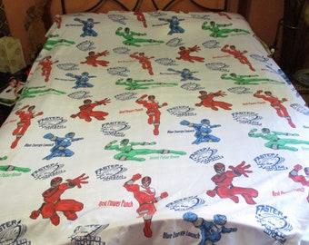 size 810 Power Rangers Girls/' Skirt Made From Repurposed Vintage Bedsheet