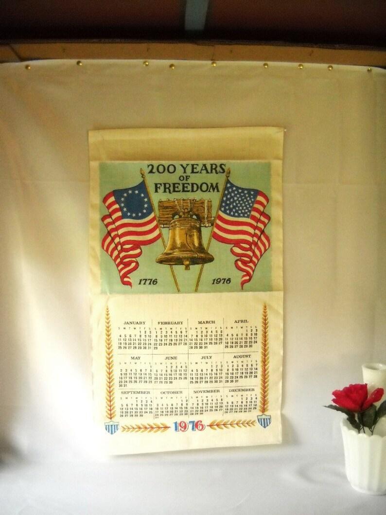 Calendario Julio 1976.Vendimia Bicentenario Calendario Toalla Lino 04 De Julio De 1976 Libertad Bell Patriotico Historico Bandera Americana Cocina Toalla