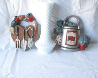 Vintage Wall Hangings Garden Wall Plaques Home Interiors Plaques