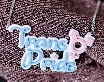 "Trans Pride Necklace // ""Love Is Love"" Collection // Christopher Street Day // Transgender"
