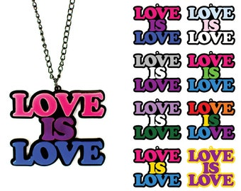 "Statement Necklace ""Love Is Love"" // Collection // Trans Pride // Christopher Street Day"
