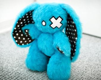 "Emo-Bunny ""Chester"" // Rabbit Plush Toy // Stars"