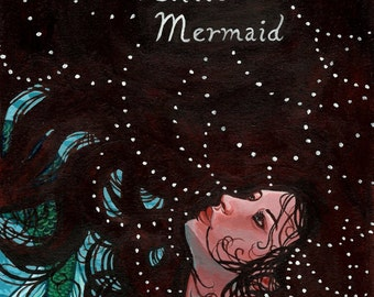 "Archival Art Print - ""Little Mermaid"" - Fairy Tale Illustration Hans Christian Andersen"