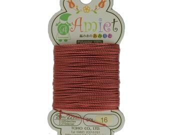 Mahogany Toho Amiet Polyester Thread 22yrds/20m