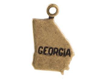 Brass Ox Tiny Georgia State Charm Drops (6) chr203KK