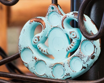 Vintage Copper with Turquoise Pendant Setting (1) pnd041C