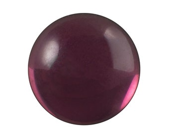 20mm Translucent Amethyst Foiled Glass Round Cabochons (1) cab2009D