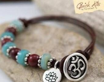 TierraCast Quick Kits: Om Blossom Bracelet