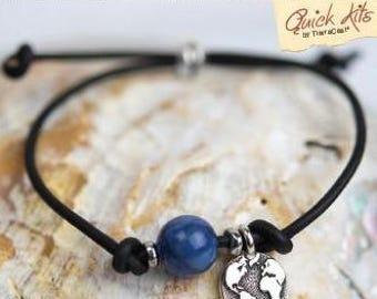 TierraCast Quick Kits: Mantra Bracelet. Peace.