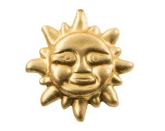Raw Brass Tiny Sun Stampings 11x11mm (8) chr233A