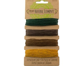 Beadsmith Hemp Cord 4 Color Fall Harvest 10lb/.55mm