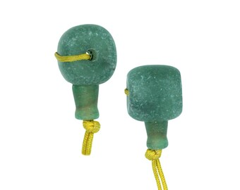 Dakota Stones Matte Green Aventurine 12mm Mala Guru Bead Gemstones. GAV12MAL-M