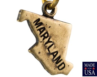 Brass Ox Tiny Maryland State Charm Drops (2) chr204GG