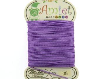 Lilac Toho Amiet Polyester Thread 22yrds/20m