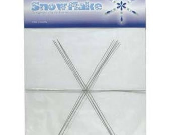 """Beadsmith Wire Snowflake Ornament Form 9.00"""""""