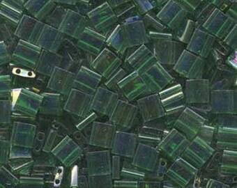 Transparent Green Luster Miyuki Tila Seed Bead 5.0mm 7.2gm Tube TL179-TB