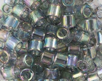 Transparent Grey Iris Miyuki Delica Seed Bead 8/0 6.8G Tube DBL-0107-TB