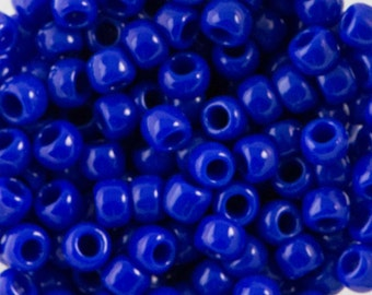 8/0 TOHO ROUND Opaque Navy Blue Seed Bead (8g)