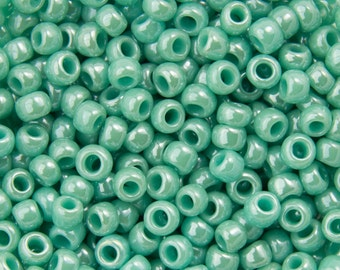 Opaque Lustered Turquoise Toho Seed Bead (8g) 11/0 TR-11-132