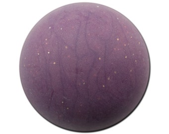Vintage Matte Deep Purple Marbled Acrylic Domed Cabochons 30mm (2) cab814L