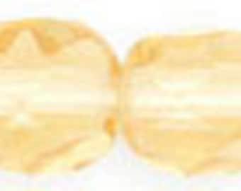 Czech Faceted Light Topaz Firepolish Glass Beads 4mm (50)