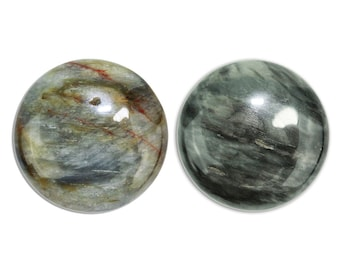 Dakota Stones Chrysoberyl Gray Cat's Eye 25mm Round Cabochon Gemstones CAB-CAT25DC