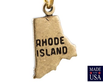 Brass Ox Tiny Rhode Island State Charm Drops (6) chr203FF