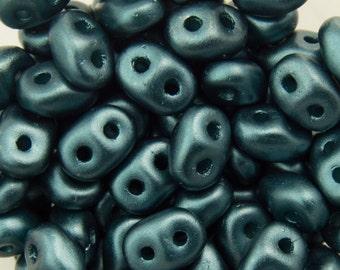"Pearl Coat Steel Blue SuperDuo Beads 2/5mm 2.5"" Tube 364-25-25033/C"