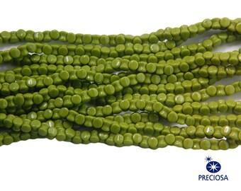 Preciosa Opaque Olive Green Glass Czech Pellet Beads 4x6mm (50) czh027A