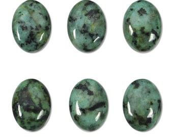 Dakota Stones African Turquoise 14x10mm Oval Cabochon Gemstones. CAB-ATQ14x10OV