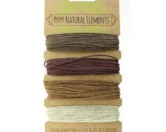 Beadsmith Hemp Cord 4 Bronze Shades 20lb/1.0mm
