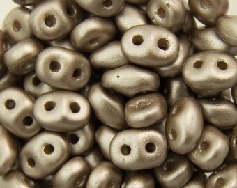 """Pearl Coat Brown Sugar SuperDuo Beads 2/5mm 2.5"""" Tube 364-25-25005/C"""