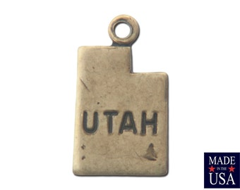 Brass Ox Tiny Utah State Charm Drops (2) chr204P